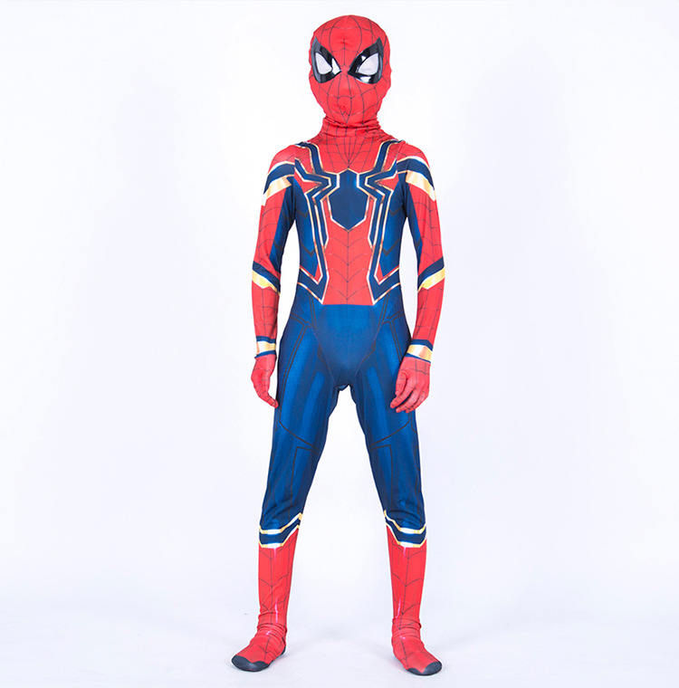 Boys Childrens Spider Boy Superhero Comic Fancy Dress Costume Outfit Book Day