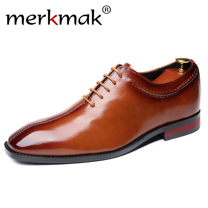 Sapatas de vestido Dos Homens Oxford Vestido Sapatos Sapatos de Negócios Dos Homens de Couro Homens Sapatos Oxford De Couro Zapatos De Hombre De Vestir formal