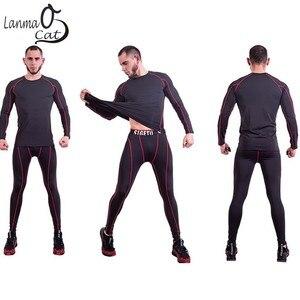 Image 3 - Lanmaocat Sports Wear For Mens Fitness Jersey Shirt Custom Logo Print Men Bodybuilding Compression Clothes TShirt Free Shipping