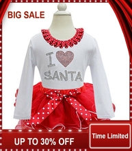 Fashion  Dot Printed Baby Girls Christmas Dresses Soft Cotton Cute Princess Dress Long Sleeve Children Clothes 2 Styles
