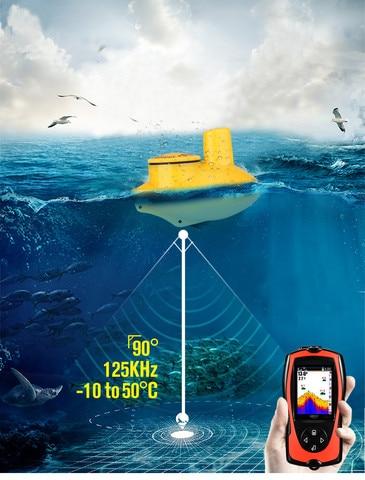 localizador de peixe sem fio tl95 ecobatimetro handheld tela portatil