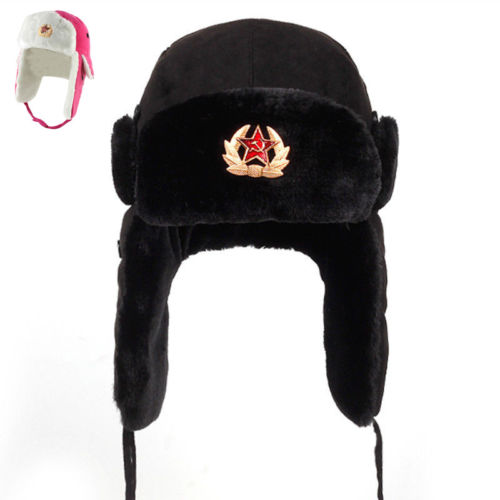 9ced074d8c15f Detail Feedback Questions about Soviet Army Military Badge Russia Ushanka  Bomber Hats Pilot Trapper Aviator Cap Winter Faux Rabbit Fur Earflap Snow Caps  hat ...