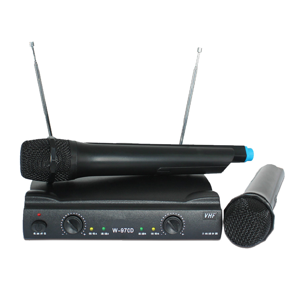 professional vhf wireless microphone system receiver dual mic handheld for karaoke ktv party. Black Bedroom Furniture Sets. Home Design Ideas