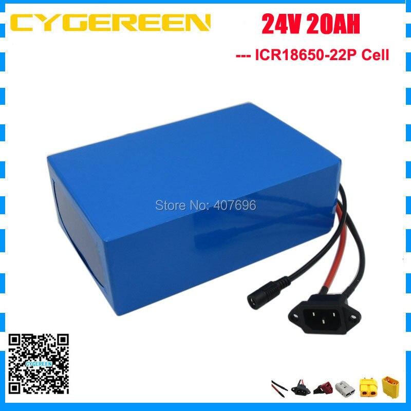 Paquet de batterie d'ion de Lithium de 1000 W 24 V 20Ah pour l'utilisation de réverbère solaire de planche à roulettes de vélo électrique de fauteuil roulant de puissance pour la cellule de samsung