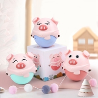1pc Piglet Doll Tumbler Baby Catching Ball Cute Lovely Animal Rattle Bed Bell Baby Rattle Educational Toys Gift Toys Rattles