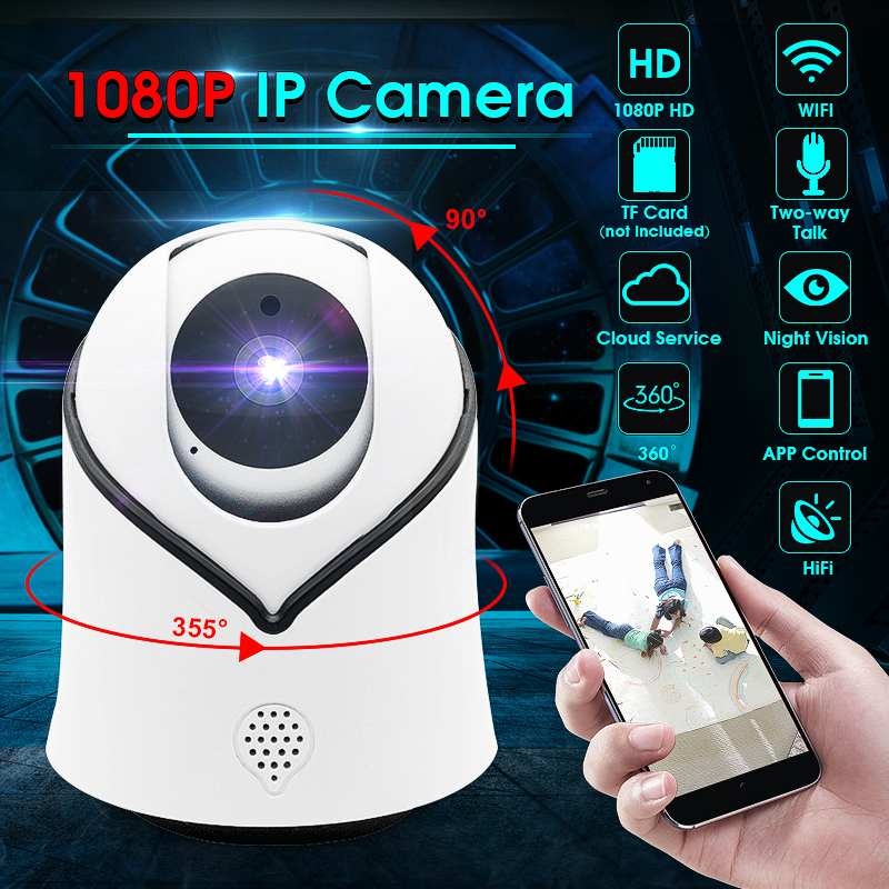 US $16 95 42% OFF|1080P HD IP Camera Home Security PTZ Wireless Mini IP Cam  Night Vision Two Way Audio CCTV WiFi Camera Baby Monitor Alarm iCsee-in