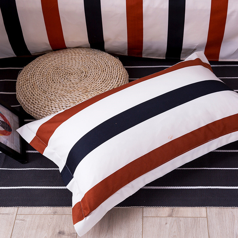 1pc Brief Style Stripe Pillowcase 48cm*74cm Polyester Pillow Cases Soft Bedding Use Home Textile 50