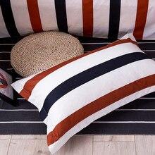 1 шт. короткая стильная наволочка в полоску 48 см* 74 см, наволочки из полиэстера, мягкие постельные принадлежности, домашний текстиль 50