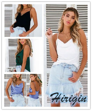 Summer Women Camis 2019 New Sexy Solid Satin Halter Sleeveless Loose Camisole Size S-XL