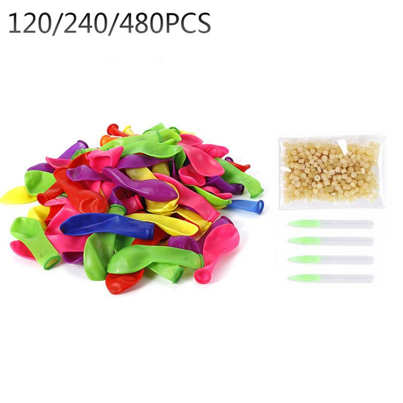 120/240/480 PCS Water Balloon Refill Pack With O Rings Party Magic Self Tying Bombs