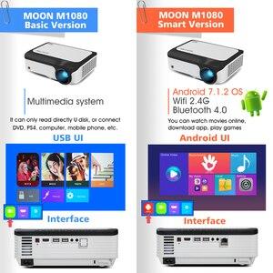 Image 3 - BYINTEK M1080 풀 HD 1080P 스마트 안 드 로이드 WIFI 홈 시어터 휴대용 LED 미니 프로젝터 비머 3D 4K