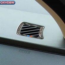 Углеродного волокна внутренняя отделка рамочный инструмент панели воздуха на выходе автомобилей укладки наклейки для BMW e60 5 серии 2004-2010 аксессуары