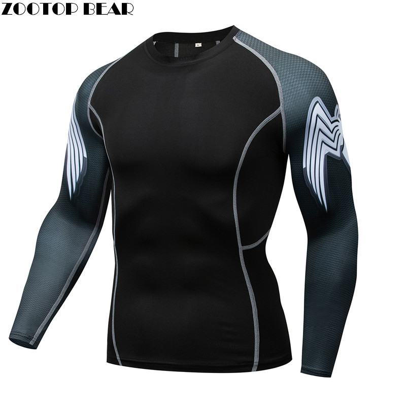 Owl Mma Compression Shirt Men Rash Guard Fitness T Shirt Elastic Base Layer Skin Tight Weight Lifting Crossfit Top Tee Quick Dry