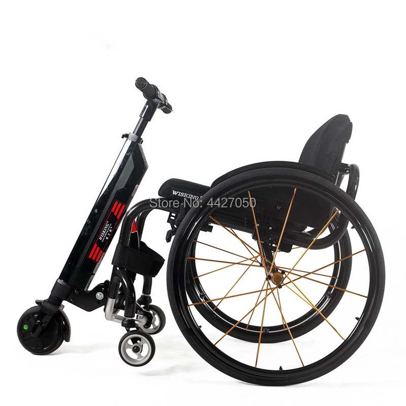 Free shipping delivery door to door handcycle wheelchair units Q5 mini size electric wheelchair handbike wisking