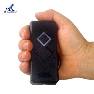 Image 1 - Realsupport IP65 مقاوم للماء قارئ بطاقة دخول صغيرة 125 kHz ID Wiegand26 قارئ بطاقة التعريف بالإشارات الراديوية لنظام لوحة تحكم الوصول