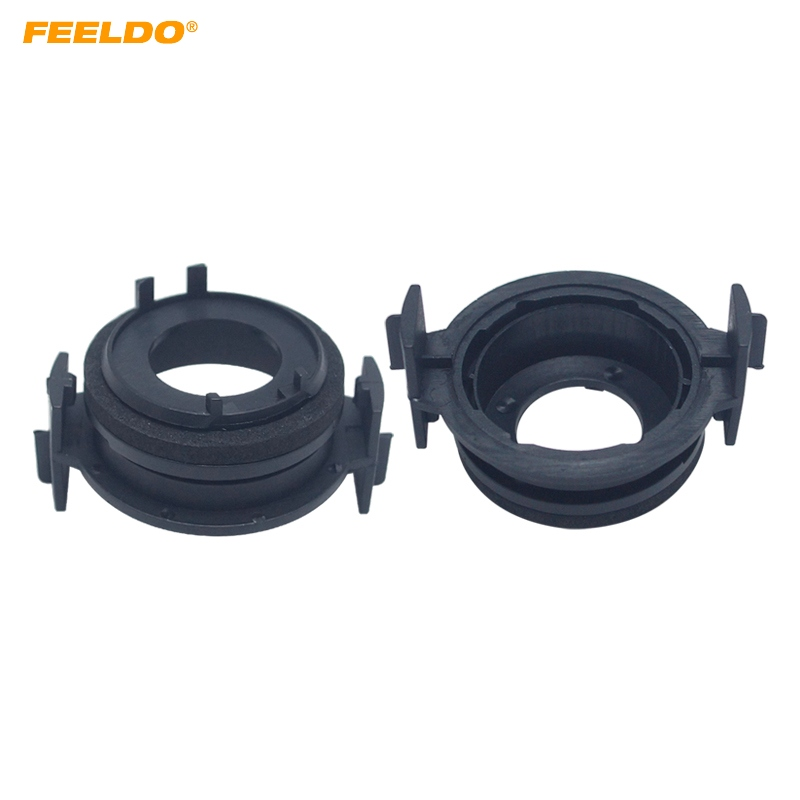 FEELDO 2X H7 <font><b>LED</b></font> Headlamp Bulb Base Holders <font><b>Adapter</b></font> For <font><b>BMW</b></font> <font><b>E46</b></font> 3 Series <font><b>LED</b></font> Headlight Clip Retainer Scokect <font><b>Adapter</b></font> #HQ5940 image
