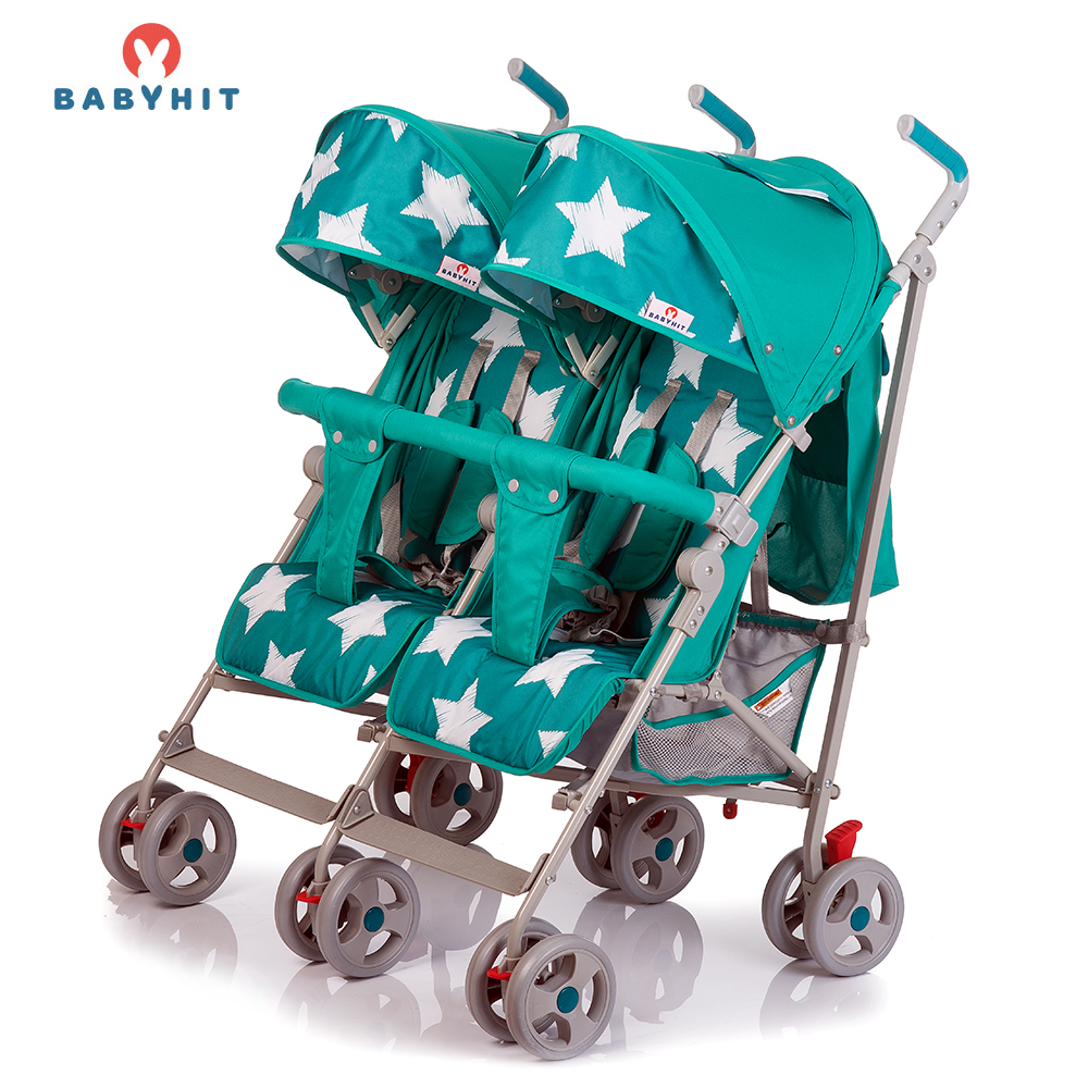 Lightweight Stroller BABYHIT TWICEY Blue for boys and girls children baby strollers lightweight stroller babyhit amber plus green for boys and girls children baby strollers