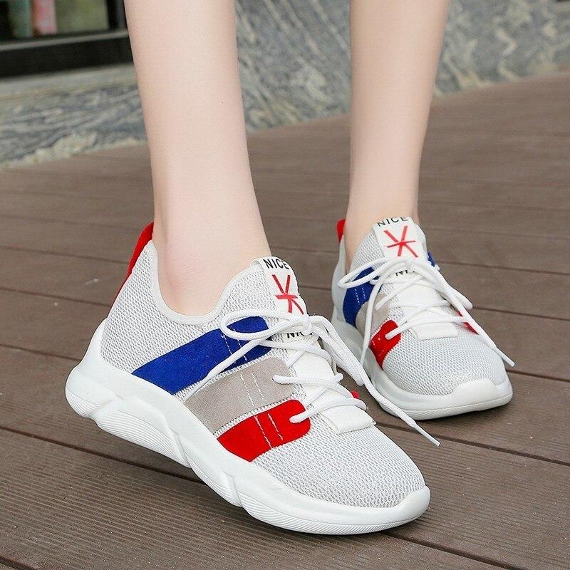 Black D'été Mixte Femme Lace Femmes Bottes High Top forme Plate Maille Chaussures white De Course Impression Tennis up 5qvw7cgqap