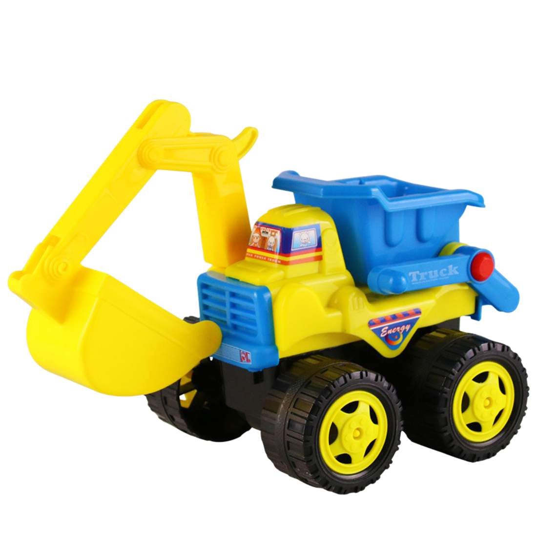 Small Size Kids Beach Sand Toys Inertia Construction Vehicle Inertia Beach Excavator Bulldozer Toy For Children Boys