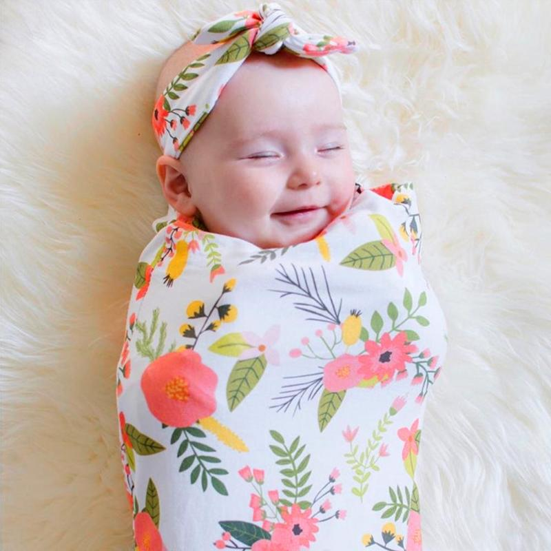 100% Wahr Neugeborenen Baby Cartoon Sleep Kinderwagen Schlafsack Warme Swaddle Stirnband Infant Anzug Winter Warme Schlaf Swaddles