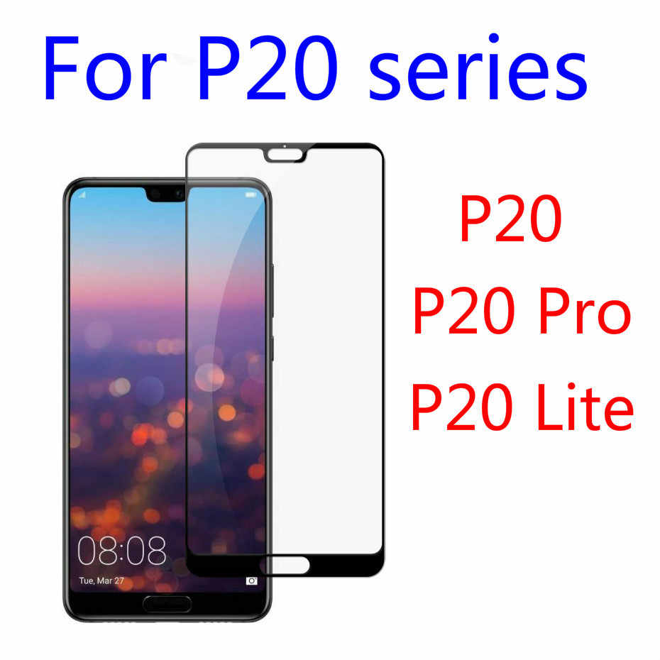 For Huawei P20 Pro P20 Lite P20 Protective Screen Protector Original Real 2.5D 9H Black white 3D Full Cover Tempered Glass