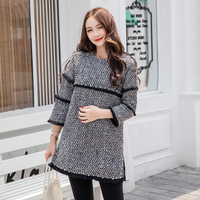 Winter Spring Breastfeeding Clothes For Pregnant Women Maternity Tops Cotton Pregnancy Basic T Shirt H344