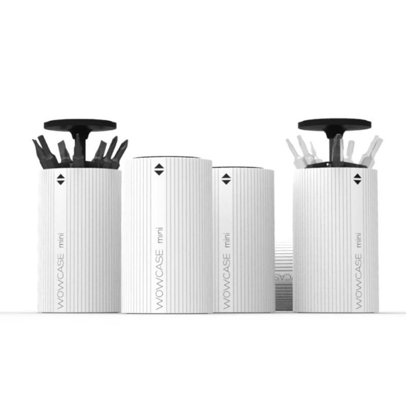 Mini Electric Screw Driver Drill Bit Head Box Storage Automatic Lift 7 Bits/top-level Container Organizer Box ,52*30*30mm