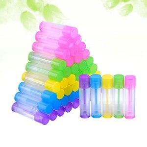 Image 4 - 100pcs Lip Balm Tubes Empty Plastic Lip Balm Tube Lipstick Tube Chapstick Containers Lipstick Containers for Handcraft DIY