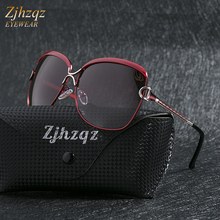 ZJHZQZ Ladies Sunglasses Women Gradient Lens Sun glasses Women Luxury Brand 2019
