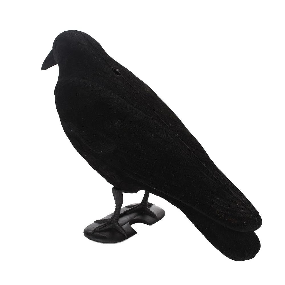Ворона имитация для охоты на приманка PE черный поддельная Птица Охота пугало в виде орла Декор цель пугало Двор Сад Охота Дерево Охота целевой