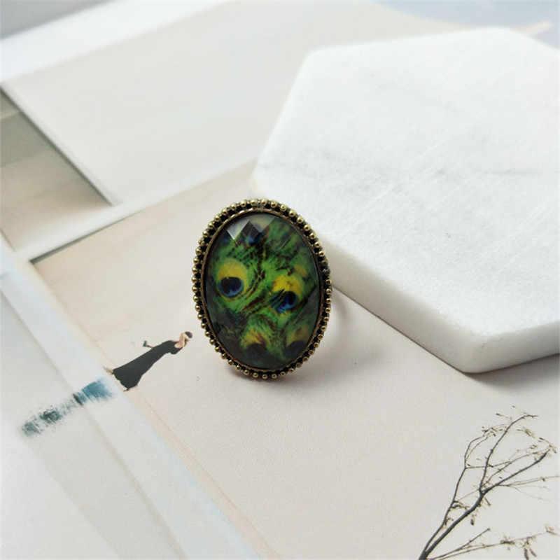 Vintage Oval yüzükler kadınlar takı için yeşil pembe taş yüzük kadınlar için çift nişan yüzüğü kadınlar düğün yüzük çocuklar için hediyeler kadın