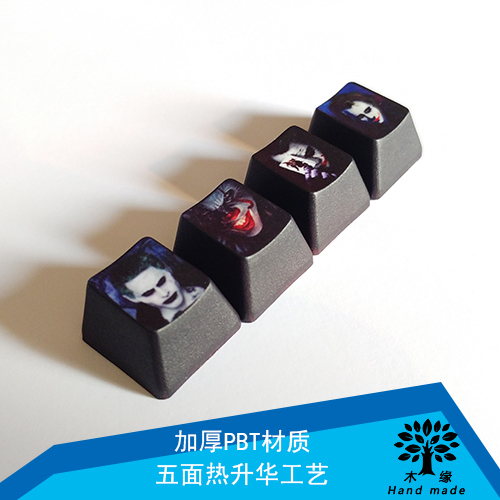 1 Piece Pbt Dye Sublimation Keycap R4 Oem Mechanical Keyboard Key Caps For Batman The Dark Knight Joker Theme Price Remains Stable