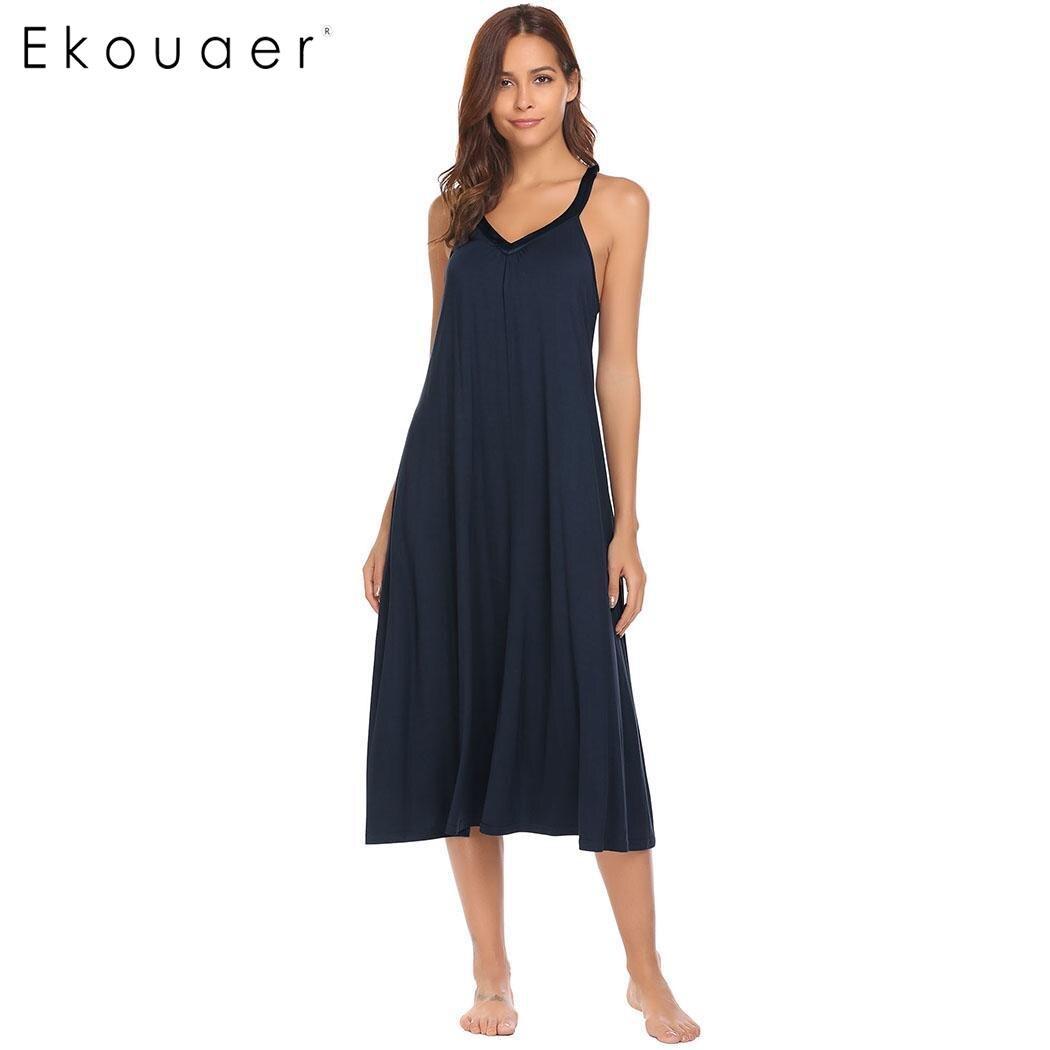 324367f13 Ekouaer vestido de noche ropa interior de mujer ropa de dormir con ...
