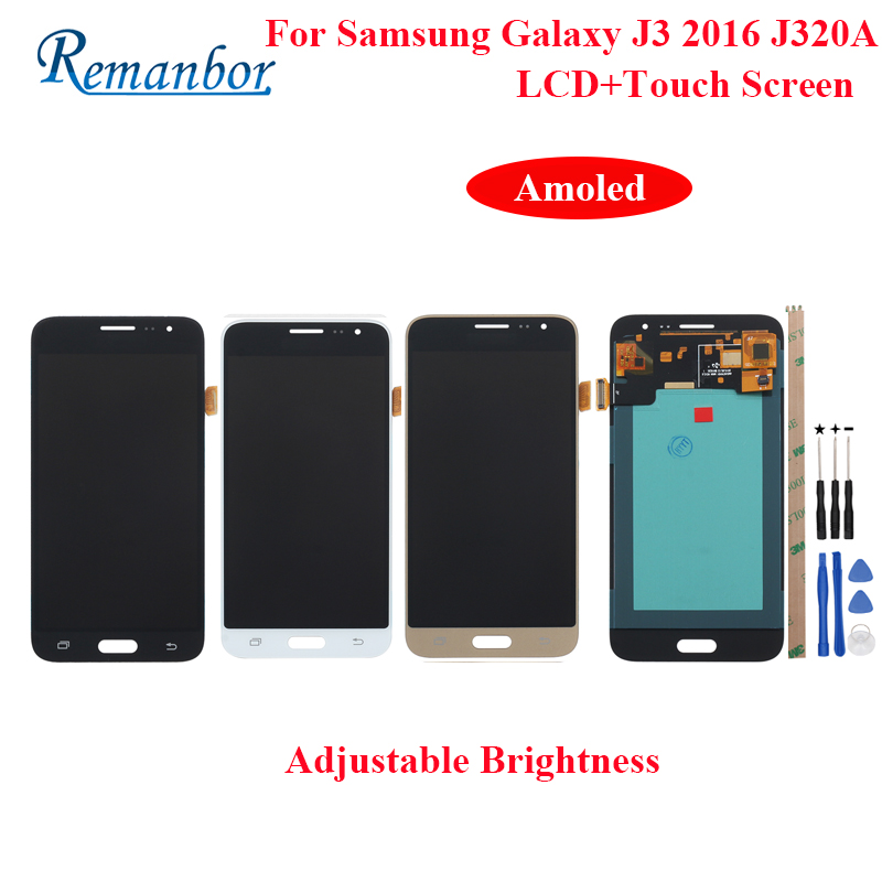 Remanbor For Samsung Galaxy J3 2016 J320 LCD Display Touch Screen For Samsung J320 J320A J320F J320M Amoled LCD With ToolsRemanbor For Samsung Galaxy J3 2016 J320 LCD Display Touch Screen For Samsung J320 J320A J320F J320M Amoled LCD With Tools