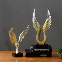 Abstracts Lanneret Eagles Wings Of Angels Resin Arts And Crafts Home Decoration Accessories Study Office Bedroom Vestibule Decor