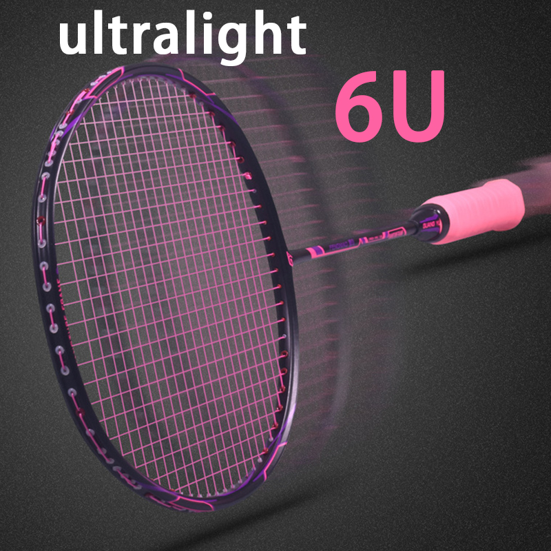 Super Light 6U Carbon Badminton Rackets Professional Offensive And Defensive Raquetas With String Bag Speed Z Force 22-26lbsSuper Light 6U Carbon Badminton Rackets Professional Offensive And Defensive Raquetas With String Bag Speed Z Force 22-26lbs
