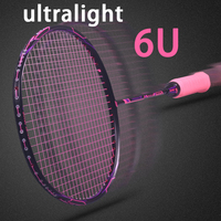 Super Light 6U Carbon Badminton Rackets Professional Offensive And Defensive Raquetas With String Bag Speed Z Force 22 26lbs