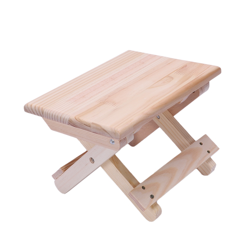 Image 5 - Portable Beach Chair Simple Wooden Folding Stool Outdoor Furniture Fishing Chairs Modern Small Stool Camping ChairStools & Ottomans   - AliExpress