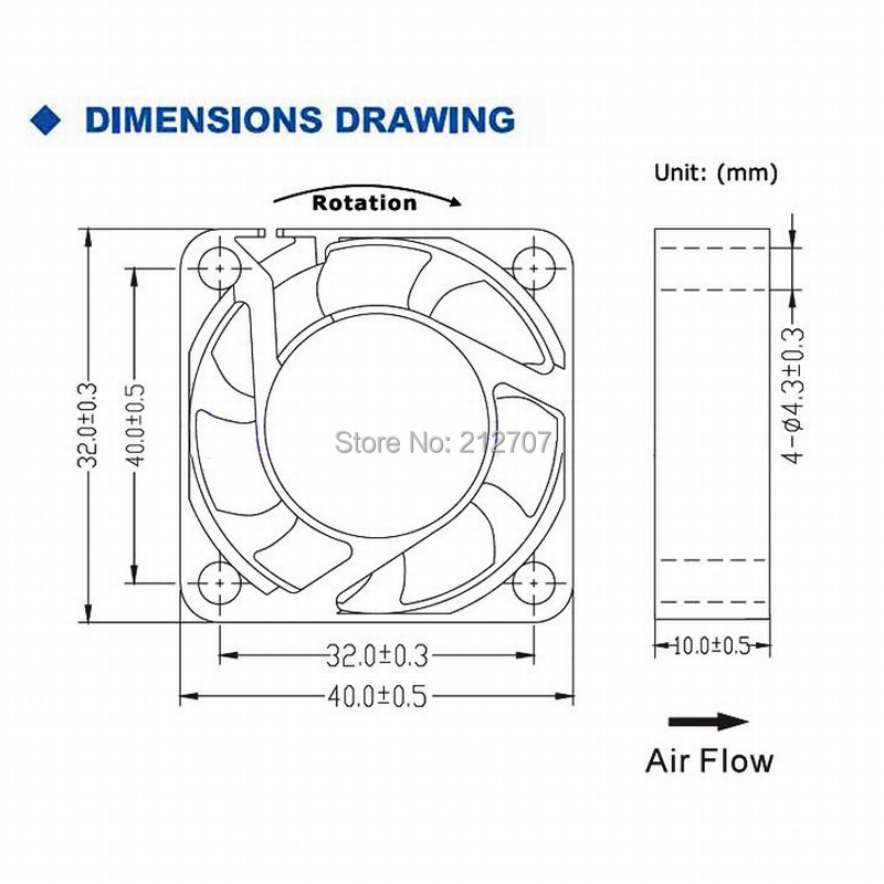 Image 5 - 2Pcs Gdstime DC 24V 12V 5V 40mm x 40mm x 10mm 2 Pin Ball Bearing Computer PC Case Cooling Fan 4010-in Fans & Cooling from Computer & Office