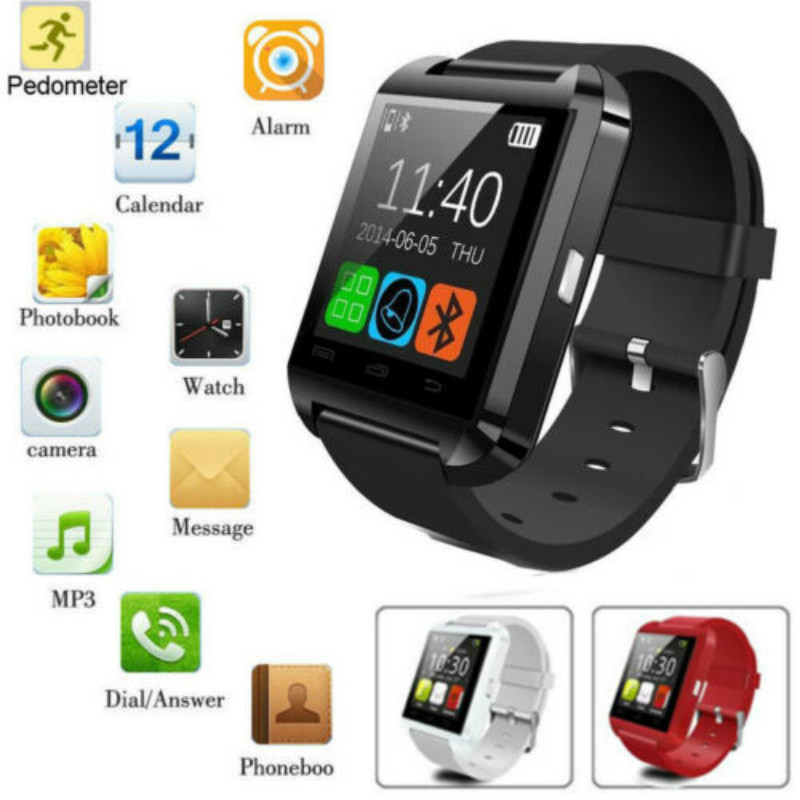 Man Women Bluetooth Sports Smart Watch Camera Phone Mate for ios Android Samsung Huawei Xiaomi iPhone LG