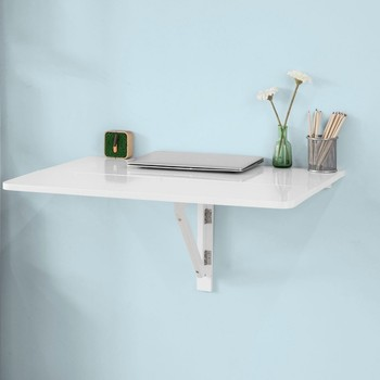 SoBuy FWT02 Mesa de cocina, mesa de madera, mesa plegable de pared ...