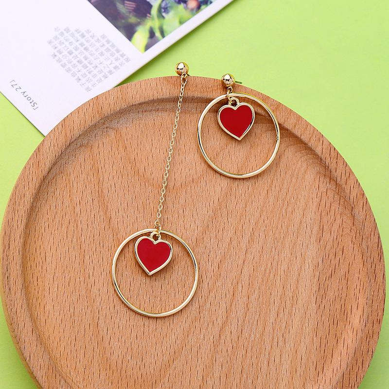 Classic Irregular Elegant Long Earrings For Women Fashion Round Love Heart Gold Color Earring Brincos Bijoux Jewelry