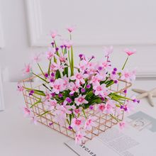 Artificial Flowers Plant Garden Small Clear Fresh Air Orchids Silk Flower Plastic Grass Home Potted Arrangement Orn