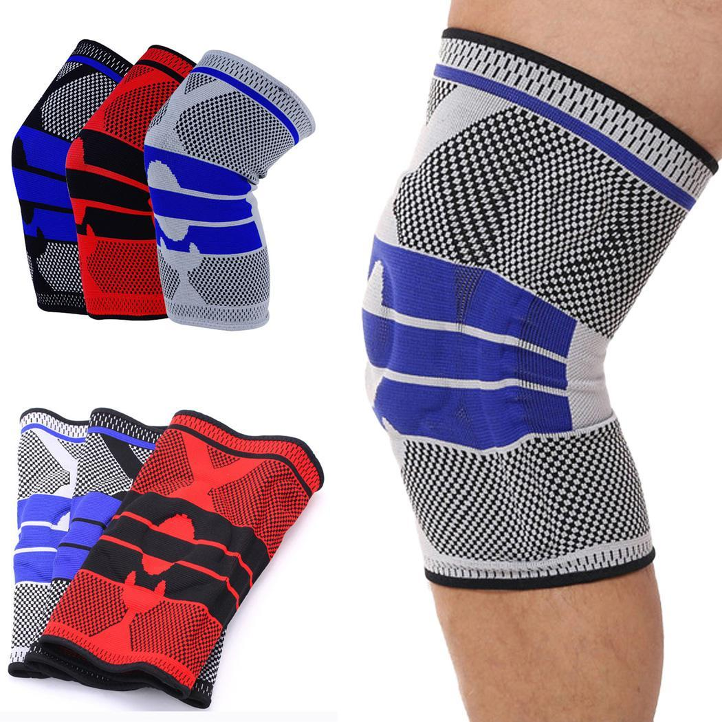 1prs Compression Knee Support Knee Brace Pad For Sports Workout Basketball Joint Pain Relief Knee Sleeves For Running