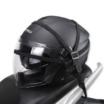2 haki motocykle Moto siła chowany kask bagaż elastyczny sznur pasek tanie i dobre opinie B4900113 Helmet luggage rope 60CM