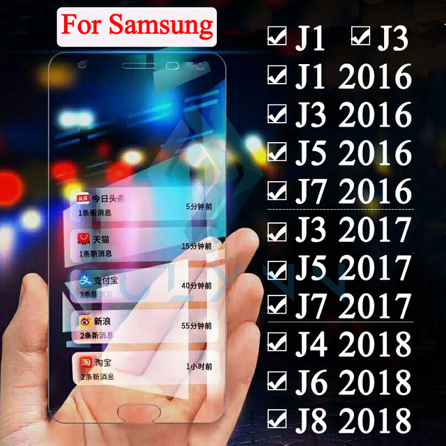 Protective Glass On The For Samsung Galaxy J1 J3 J4 J5 J6 J7 J8 2016 2017 2018 Tremp J 3 5 6 7 8 2 j4 plus J6 PLUS