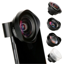 PHOLES 4 In 1 Cell Phone Camera Lens Kit Wide Angle Telephot