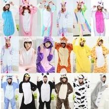 kigurumi Animal Cartoon Women 2018 New Onesies Stitch Cosplay Hooded Sleepwear Winter Unisex Pajamas onesies for