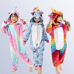Unicorn Pajamas for Boys Girls 4 6 8 10 12 Years Animal Pegasus Unicorn Cosplay Kids Pijamas Onesies Winter  Children  Sleepwear