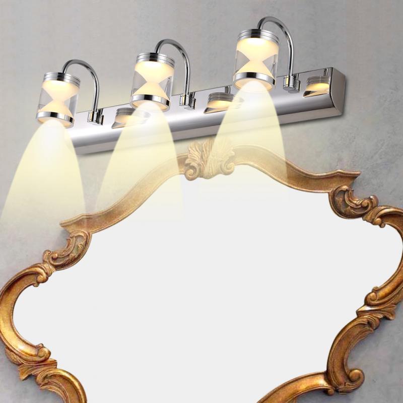 Discreet Modern Bathroom Front Mirror Light 3led Wall Mounted Makeup Lamp Vanity Table Light Makyaj Masas Fixture Warm White 90-220v Lights & Lighting